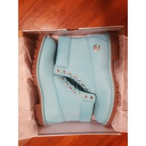 Timberland Shoes - LIMITED EDITION TEAL TIMBERLAND BOOTS